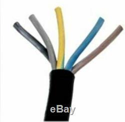 10mm x 5Core Rubber Cable Flex H07RN-F H07RNF Heavy Duty Flex