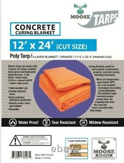 12' x 24' Concrete Curing Blanket 8x8 Weave, 3/16 Closed Cell Foam Core