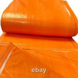 12x20' Orange Insulated Blanket Concrete Curing Tarp 3/16 Foam Core PE Coated