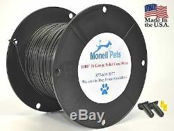 16 Gauge Heavy Duty Solid Dog Fence Boundary Wire 1000' Spool Superior 45 MIL