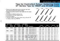 (2-PACK) WELLER W100PG 100 Watt, 120v, 700F Heavy Duty Soldering Iron with CT6F7
