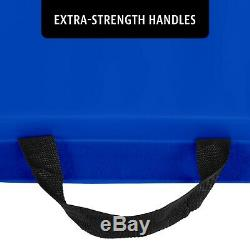 2 Thick BLUE Exercise Mat Foam Core with Heavy Duty Vinyl Cover 4x8