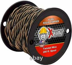 200ft Roll 14 Gauge Solid Core Heavy Duty Professional Grade Twisted Dog Fenc