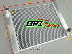 3 Core Custom Aluminum Radiator 19 x 24 Fit Ford/Chrysler-Style Heavy duty MT