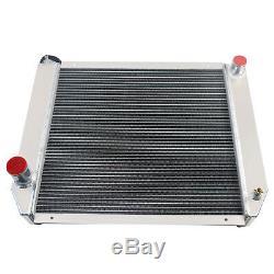 3 Row 1Tube Core Aluminum Radiator Fit Ford/Mopar Heavy Duty 24x19