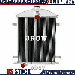 3 Row Core Aluminum Radiator For 1928-1929 Ford Model A Heavy Duty 3.3L L4 MT