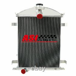 3 Row Core Aluminum Radiator fit 1928-1929 Ford Model A Heavy Duty 3.3L l4