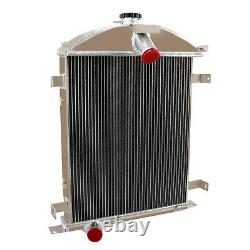 3 Rows Cores Aluminum Radiator fit 1928-1929 Ford Model A 3.3L L4 Heavy Duty