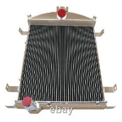 3 Rows Cores Aluminum Radiator for 1930-1931 Ford Model AA Heavy Duty 3.3L L4
