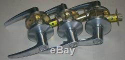3 Stanley BEST Lever Door Locks Commercial Heavy duty With cores