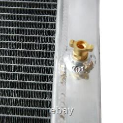 4 Row Core Aluminum Heavy Duty Radiator fit Dragster Roadster Style Double Pass