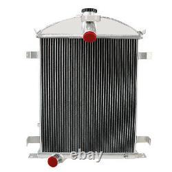 4 Row Core Aluminum Radiator For 1928-1929 Ford Model A Heavy Duty 3.3L