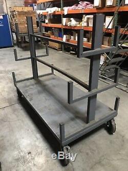 4 Swivel Plate Casters 5 Heavy Duty Cast Iron Hub Core Poly Wheel Non Skid Mark