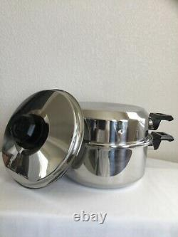 5 Qt Kitchen Craft Heavy Duty Stockpot Dutch Oven 5-Ply Multi-Core T304 with2 Lids