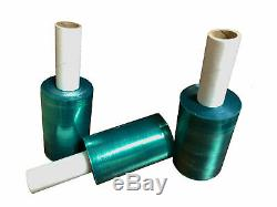 5x 500-1000 Ft Movers Stretch Wrap Tinted Green Extended Core Down Gauge Film