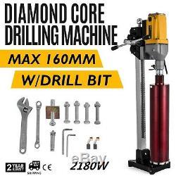 6 Diamond Core Drill Concrete Drilling Machine with Stand & Drill Bits 2180W