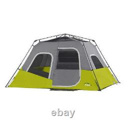 6 people Cabin Tent Waterproof 11 x 9 ft. Camping Portable Instant Setup CORE