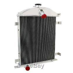 62mm 4-Row Core Aluminum Radiator For Ford Model A Heavy Duty 3.3L L4 1928-1929