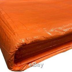 6x24' Orange Insulated Blanket Concrete Curing Tarp 3/16 Foam Core PE Coated