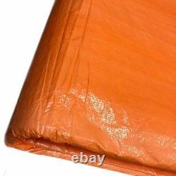 8x24' Orange Insulated Blanket Concrete Curing Tarp 3/16 Foam Core PE Coated