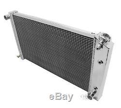 A/C Heavy Duty, 1968 1969 1970 Tempest 4 Core DR Aluminum Radiator