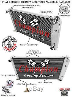 A/C Heavy Duty, Champion 3 Core RR Radiator 68 69 70 71 72 73 74 77 Chevelle