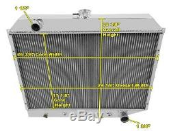 A/C Heavy Duty Radiator, 70 71 72 73 74 Barracuda 26 Core DR (Small Block)