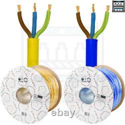 Arctic Blue Yellow 3183AY Flex Cable 3 Core 1.5 2.5 Caravan Camping Heavy Duty
