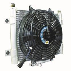 BD Diesel 1300611 Xtrude Core Heavy Duty Trans Cooler Withfan & -10 Jic Male