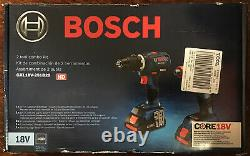 Bosch GXL18V-251B25 2-Tool Combo Kit with 2 CORE18V Batteries & Carrying Case -New