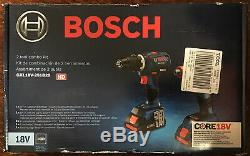 Bosch GXL18V-251B25 2-Tool Combo Kit with Two CORE18V batteries & Carrying Case