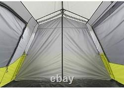 CORE 14' x 9' Instant Cabin Tent 9 Person with 60 Second Assembly, Green/Grey