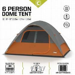 CORE 6 Person Dome Tent 11' x 9
