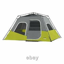 CORE 6 Person Instant Cabin Tent with Wall 47 in x 9.05 x 9.05, Green