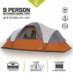 CORE 9 Person Extended Dome Tent
