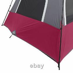 CORE Equipment 12 Person 18 Feet x 10 Feet Double Door Instant Cabin Tent, Wine
