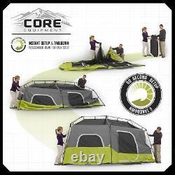 CORE Equipment 9 Person Instant Pop Up 14' x 9' Cabin Tent Green (Open Box)