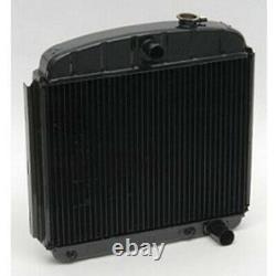 Chevy Radiator, Heavy-Duty 4-Core, Copper, Brass, V8, 1955-1957 57-261349-1