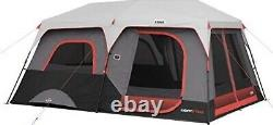 Core 10 person Lighted Instant Cabin Tent/ Easy To Set Up