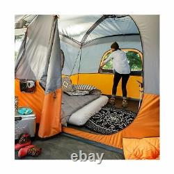 Core 11 Person Family Cabin Tent with Screen Room Orange