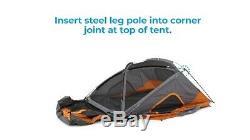 Core 11 Person Family Cabin Tent with Screen Room (Orange)