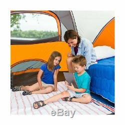 Core 40004 Dome Tent Extended 9 Person Orange Outdoor Camping Sleeping Shelter