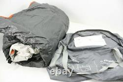 Core 40035 11 Person Cabin Tent 17 x 12 Feet Orange Grey Polyester w Carry Bag