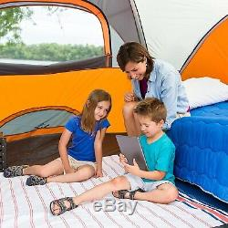 Core 9 Person Extended Dome Tent 14' X 9' Tents Canopies Camping Hiking