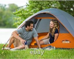 Core Backpacking-Tents CORE Dome Tent 7x7, Orange