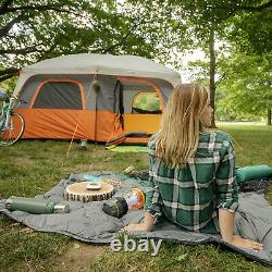 Core Equipment 10 Person Straight Wall Cabin Camping Tent Pop Up Instant Family