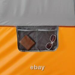 Core Equipment 12-Person 2-Room Straight Wall Cabin Camping Tent, 16 x 11 Orange
