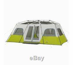 Core Equipment 12 Person Instant Cabin Tent, Green/Gray, 18 x 10 ft