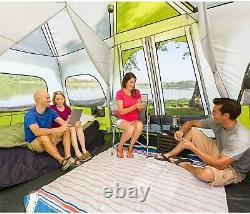 Core Equipment 12 Person Instant Cabin Tent Green/white, 18 x 10 ft