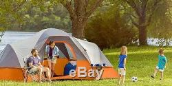 Core Equipment 40035 11 Person Camping Tent with screen- Orange